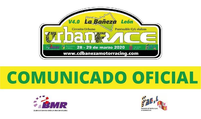 Comunicado Oficial: Cancelación 4 Urban Race